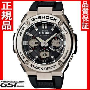 G-SHOCKカシオGST-W110-1AJFソーラー電波腕時計「Gスチール」メンズ(黒色〈ブラック〉)|gst