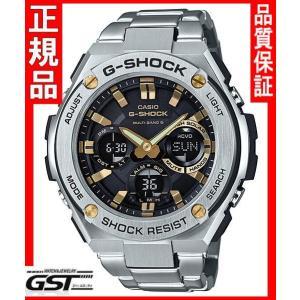 GショックカシオGST-W110D-1A9JFソーラー電波腕時計「Gスチール」メンズ銀色〈シルバー〉|gst