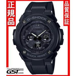 GショックカシオGST-W300G-1A1JF「G-STEEL」ソーラー電波腕時計(黒色〈ブラック〉)|gst