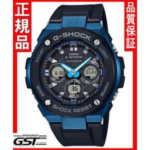 Gショック カシオGST-W300G-1A2JF「Gスチール」ソーラー電波腕時計メンズ(黒色〈ブラック〉) gst