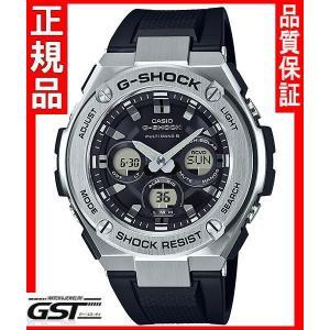 GショックカシオGST-W310-1AJF「G-STEEL」ソーラー電波腕時計(黒色〈ブラック〉)|gst