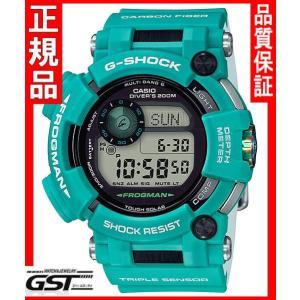 Gショック カシオGWF-D1000MB-3JF「マスター・イン・マリンブルー」フロッグマン ソーラー電波腕時計メンズ(緑色〈グリーン〉)|gst