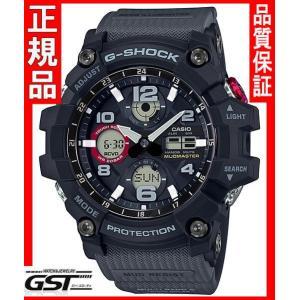 GショックカシオGWG-100-1A8JF「マスターオブG マッドマスター」ソーラー電波腕時計(黒色〈ブラック〉)|gst