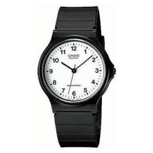 チープカシオ 逆輸入品 メンズ 腕時計 アナログ スタンダードMQ-24-7BLDF(黒色〈ブラック〉)|gst
