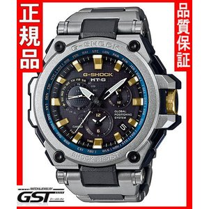 限定GショックカシオMTG-G1000SG-1A2JF「MT-G」ソーラー電波GPS腕時計(黒色〈ブラック〉)|gst