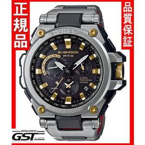 限定GショックカシオMTG-G1000SG-1AJF「MT-G」ソーラー電波GPS腕時計(黒色〈ブラック〉)|gst