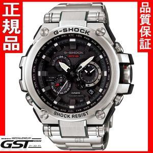 新品G-SHOCKカシオGショックMT-G MTG-S1000D-1AJF電波ソーラー腕時計, 黒(銀色〈シルバー〉)正規保証書|gst