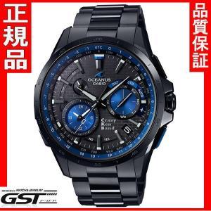 カシオOCW-G1000CK-1AJR「オシアナスマンタ」GPS電波ソーラー限定品・限定モデル「クレイジーケンバンドコラボレーション」メンズ(黒色〈ブラック〉)|gst