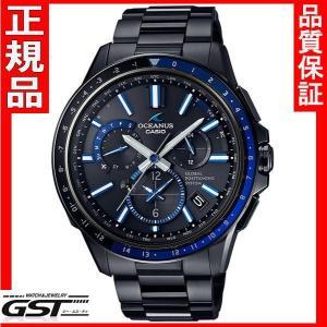 OCEANUSカシオOCW-G1100B-1AJFオシアナスマンタGPS電波ソーラー国産品限定品・限定モデルメンズ(黒色〈ブラック〉)|gst