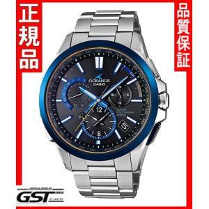 限定品カシオ正規国産品OCW-G1100TG-1AJF「オシアナスマンタブラックマーブル」GPS電波ソーラー腕時計メンズ(銀色〈シルバー〉)|gst