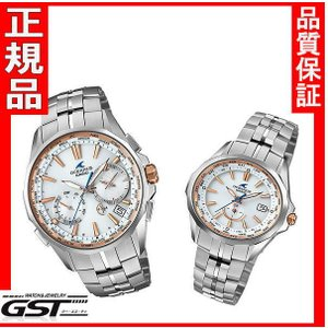 カシオ ペア腕時計オシアナスマンタOCW-S3400E-7JF-OCW-S340-7AJF(銀色〈シルバー〉)|gst