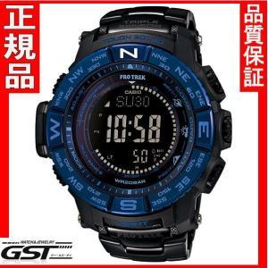 カシオプロトレックPRW-3500SYT-1JFソーラー電波腕時計メンズ(黒色〈ブラック〉)|gst