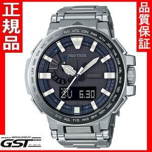 カシオPRX-8000GT-7JF プロトレック マナスル ソーラー電波腕時計メンズ(黒色〈ブラック〉)|gst