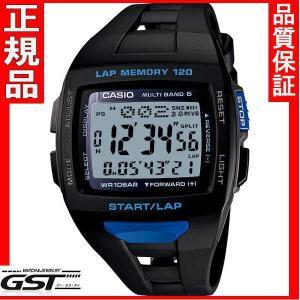 カシオフィズSTW-1000-1BJFソーラー電波腕時計 PHYS メンズ(黒色〈ブラック〉)|gst