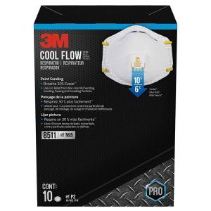 3M スリーエム 8511 防毒 マスク Respirator N95 クールフローバルブ Cool Flow Valve ( 10枚入り ) アメリカ正規品 gudezacom