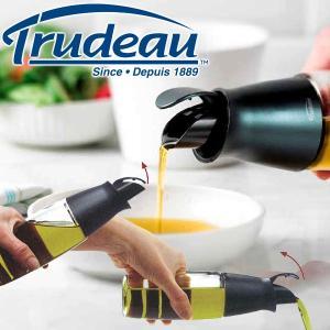 【販売終了】Trudeau トゥルードゥー オイル&ビネガーボトル(ビネガーボトル オイル差し ガラス 調味料入れ ドレッシング 容器 油さし オイルボトル)|gudezacom