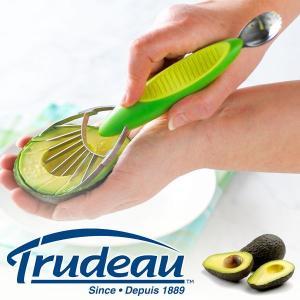 【販売終了】Trudeau トゥルードゥー アボカドカッター スプーン付き(アボカド ナイフ カッター カット  調理 キッチン用品)|gudezacom