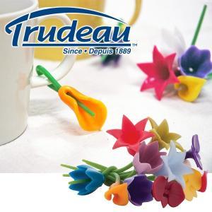 【販売終了】Trudeau トゥルードゥー フラワーチャーム 12pcs(お花 フラワー クリップ 密封クリップ 保存クリップ)|gudezacom