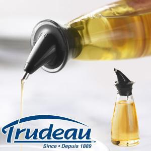 【販売終了】Trudeau トゥルードゥー ドリップレス オイルボトル(ビネガーボトル オリーブオイル オイル差し 液だれしな ガラス 調味料入れ 便利グッズ)|gudezacom