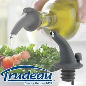 【販売終了】Trudeau トゥルードゥー ドリップレス スパウト(オリーブオイル 蓋 キャップ フタ 液だれしな ガラス 調味料入れ 便利グッズ)|gudezacom