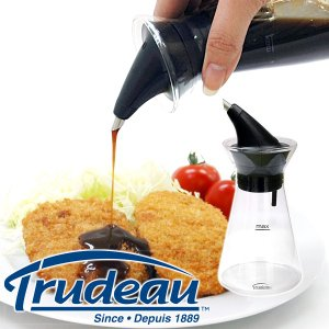 【販売終了】Trudeau トゥルードゥー ドリップレス ソースボトル(ソース入れ ソース ボトル 液だれしない ガラス 調味料入れ)|gudezacom