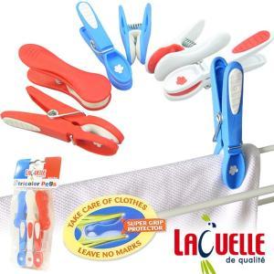 洗濯バサミ 6個入 Laguelle ラゲール トリコロールピンチ 6pcs(ランドリー クリップ カフェ 北欧 雑貨)|gudezacom