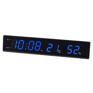 【販売終了】送料無料◆IDEA イデア 電波LED温湿時計α [アルファ] ブルー gudezacom
