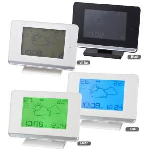 【販売終了】送料無料◆IDEA イデア 電波LCDウェザーステーションクロック LCR066 gudezacom