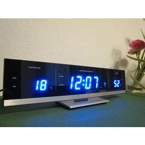 【販売終了】送料無料◆IDEA イデア 電波LED温湿時計 【ブルー】LCR082-BL gudezacom