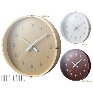 【販売終了】壁掛け時計 掛け時計 IDEA イデア ウッドガラスクロック ラウンド スモール|gudezacom