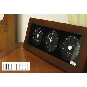 【販売終了】IDEA イデア ウッド温湿時計 横型 【ダークブラウン】LDS010-DW gudezacom