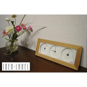 【販売終了】IDEA イデア ウッド温湿時計 横型 【ナチュラル】LDS010-NW gudezacom