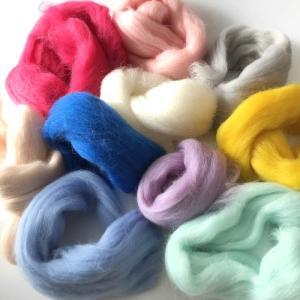 羊毛フェルト用 超極太メリノウール ミックスカラー10色セット guild-yarn
