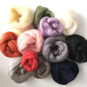 羊毛フェルト用 超極太メリノウール ミックスカラー12色セット guild-yarn