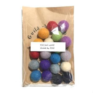 フェルトボール20個セット E 18〜20mm|guild-yarn