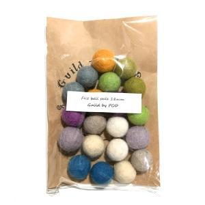 フェルトボール20個セット C 18mm|guild-yarn