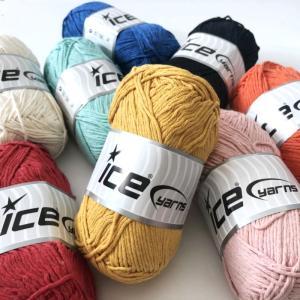 ICE Yarns ナチュラルコットン ウーステッド毛糸|guild-yarn
