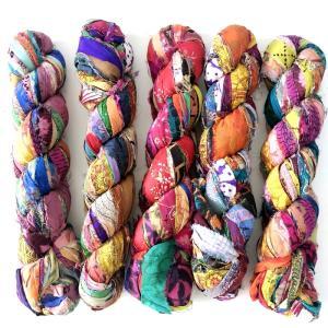 プリントシフォンリボン|guild-yarn