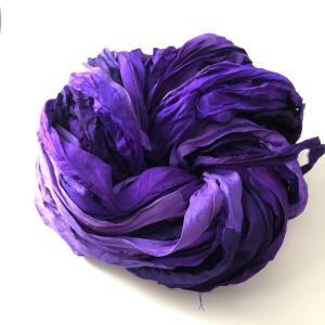 リサイクルサリーリボン Amethyst purple 80g|guild-yarn