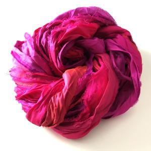 リサイクルサリーリボン Ruby pink 90g|guild-yarn