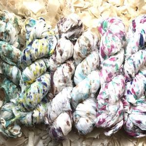 リサイクルサリーシフォンリボン スプラッシュ|guild-yarn