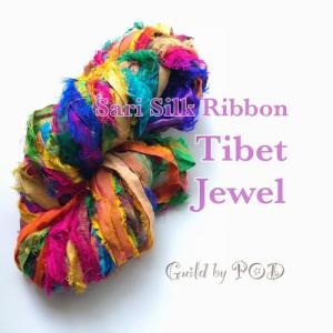 リサイクルサリーリボン Tibet Jewel|guild-yarn