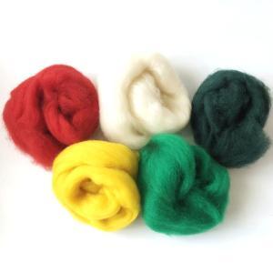 羊毛フェルト用 超極太メリノウール ミックスカラー5色セット|guild-yarn|02