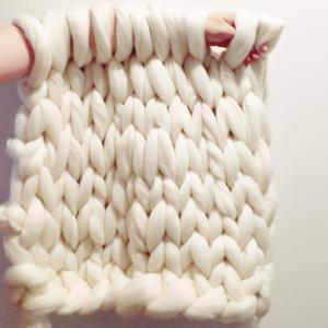 超極太メリノウール毛糸-バルキー アイボリー 1kg 大玉|guild-yarn|04