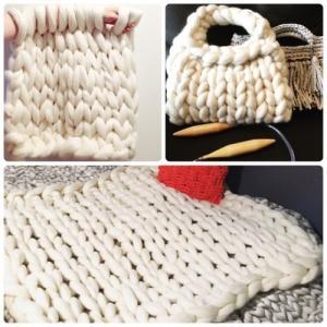 超極太メリノウール毛糸-バルキー アイボリー 1kg 大玉|guild-yarn|06