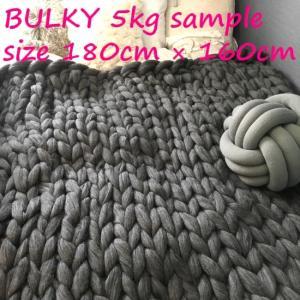 超極太メリノウール毛糸-バルキー アイボリー 1kg 大玉|guild-yarn|08