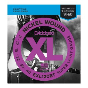 D'Addario 09-40 EXL120BT Nickel Wound Balanced Tension Super Light|guitarplanet