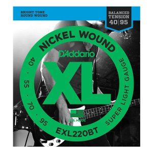 D'Addario 40-95 EXL220BT Nickel Wound Balanced Tension Super Light|guitarplanet