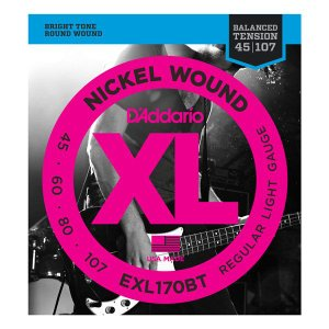 D'Addario 45-107 EXL170BT Nickel Wound Balanced Tension Reguilar Light|guitarplanet