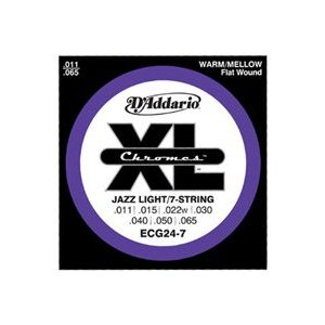D'Addario 11-65 ECG24-7 Chromes Jazz Light/7-string|guitarplanet
